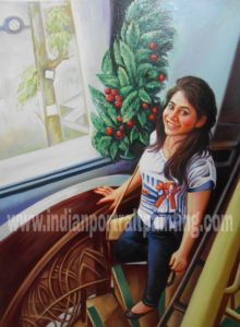convert photo to portrait painting on oil canvas