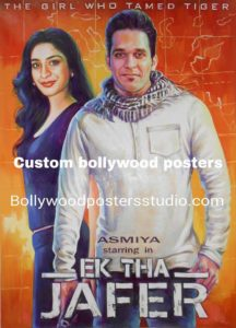 Bollywood movie poster on canvas