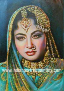Original oil canvas portrait paintings