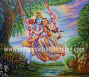 Indian oil canvas paintings
