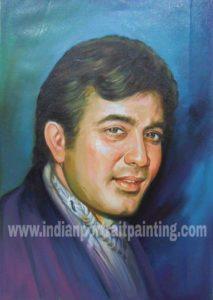 Celebrity oil portrait paintings