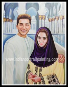Personalised gift portrait painting