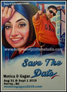 Famous bollywood personal poster hand painted