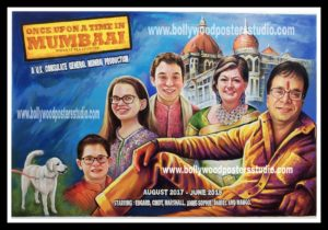 Gift for family hand made portrait in bollywood style
