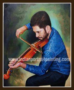 Custom made oil portrait