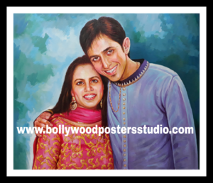 photo to canvas portrait painting