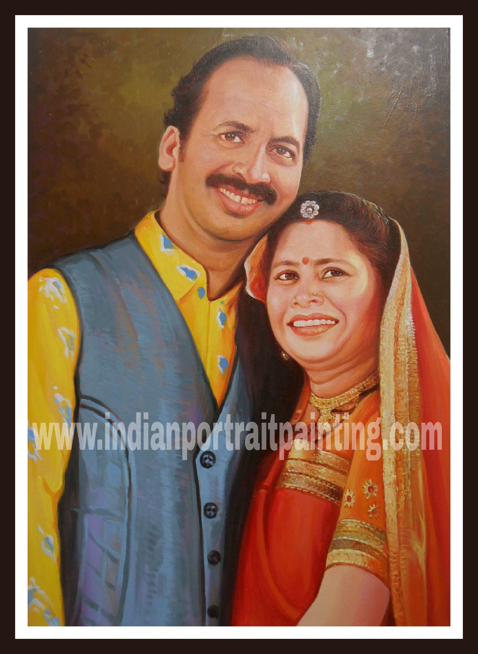 portrait paintings oil canvas India