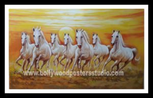 Oil painting on canvas by Indian artist