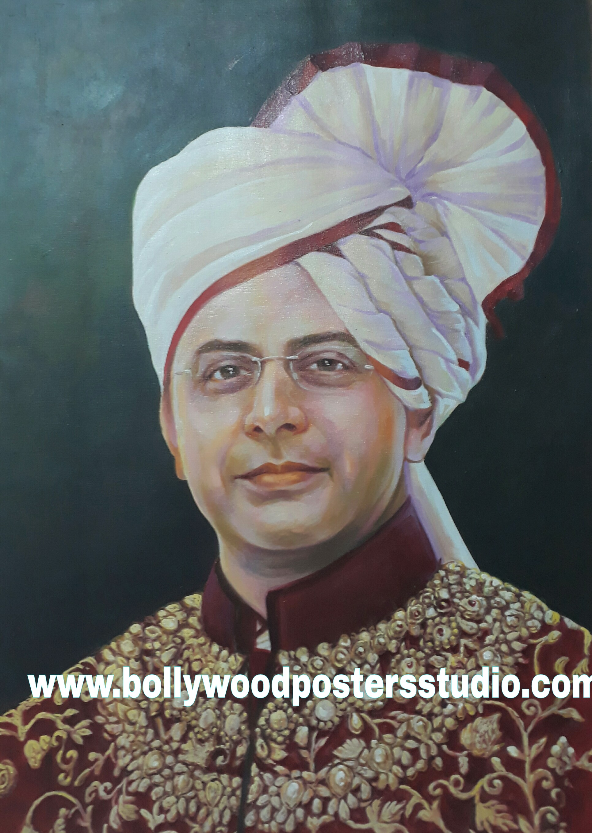 oil painting portrait indian
