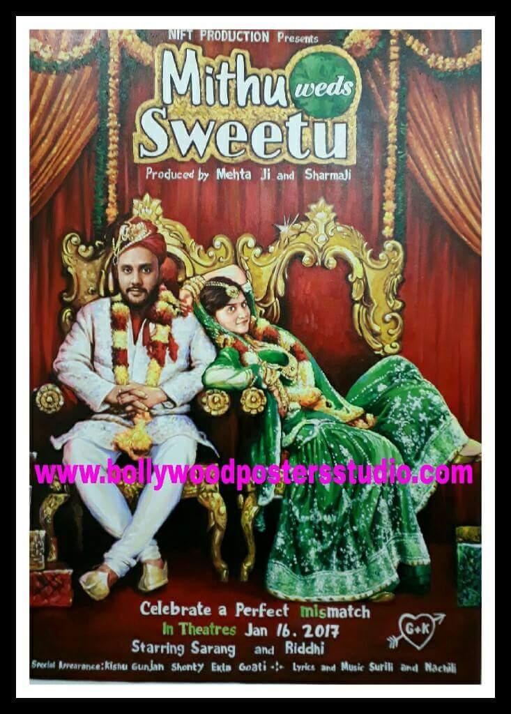 Custom bollywood poster for wedding decoration
