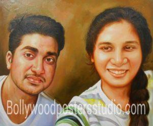Personalized canvas portrait painting