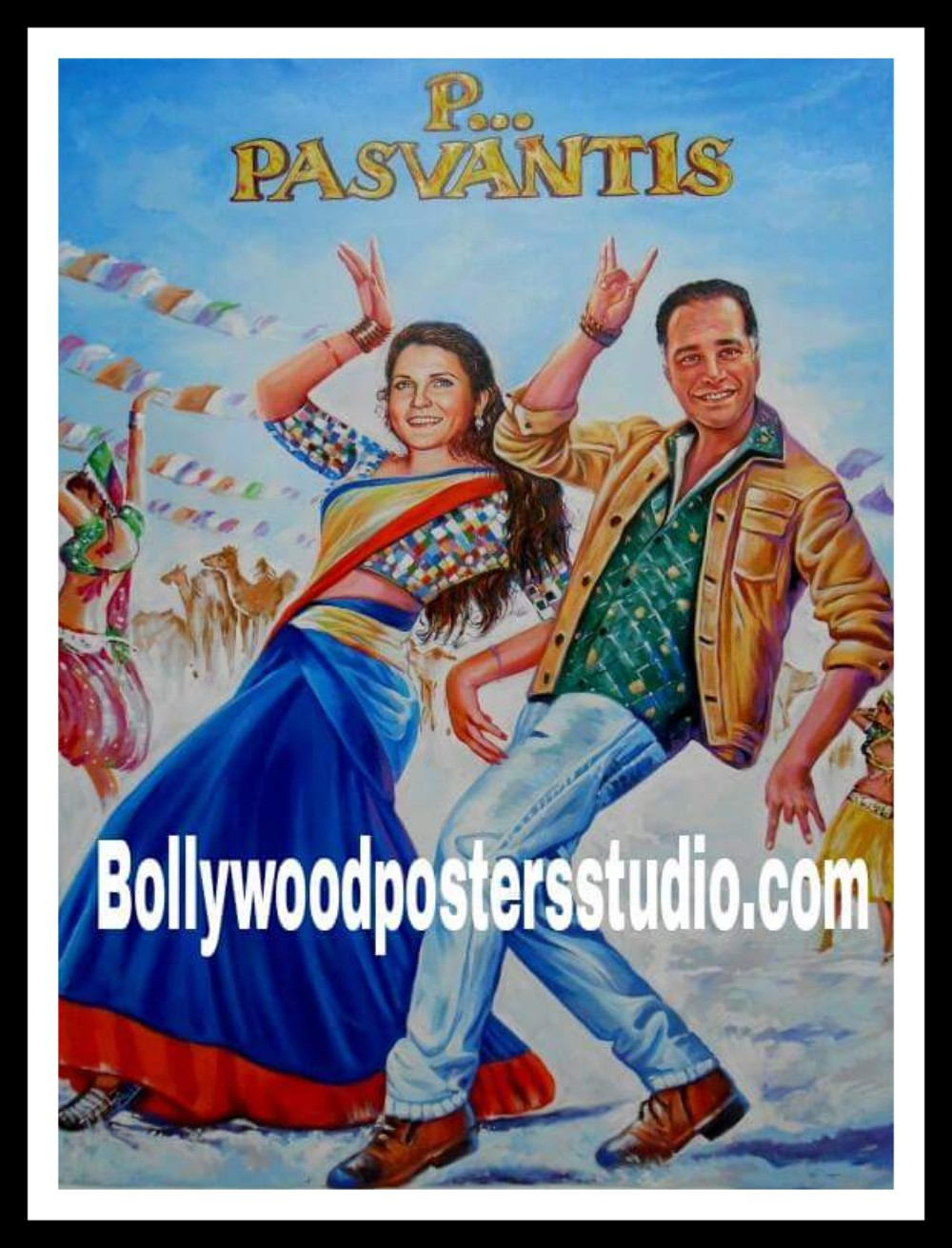 Hand painted bollywood poster artists