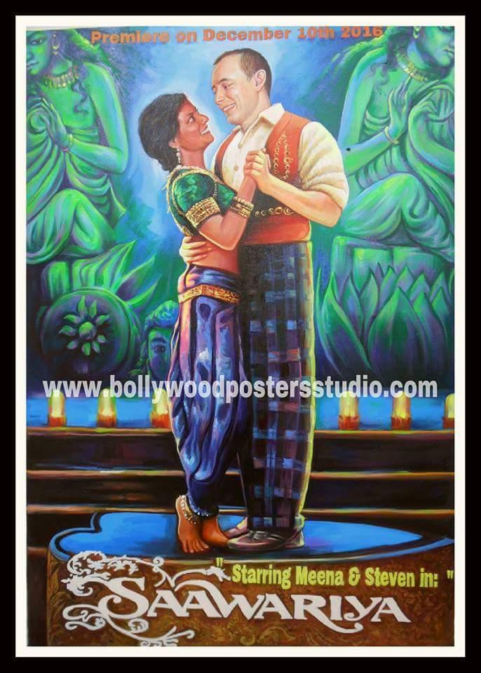 Bollywood poster art