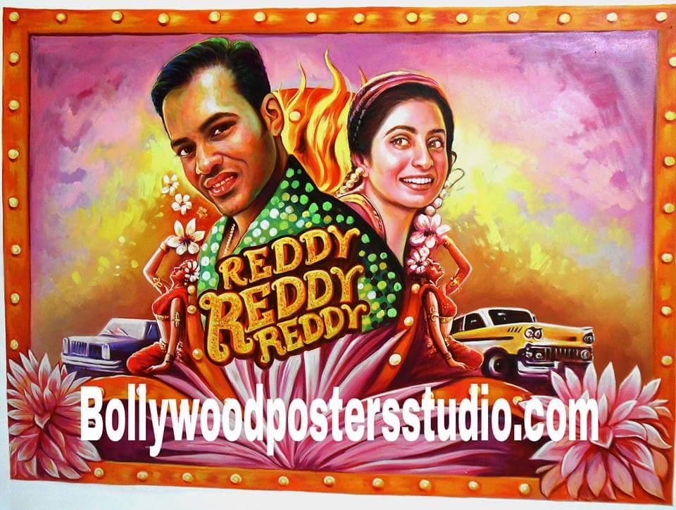 Hand painted personalized bollywood poster