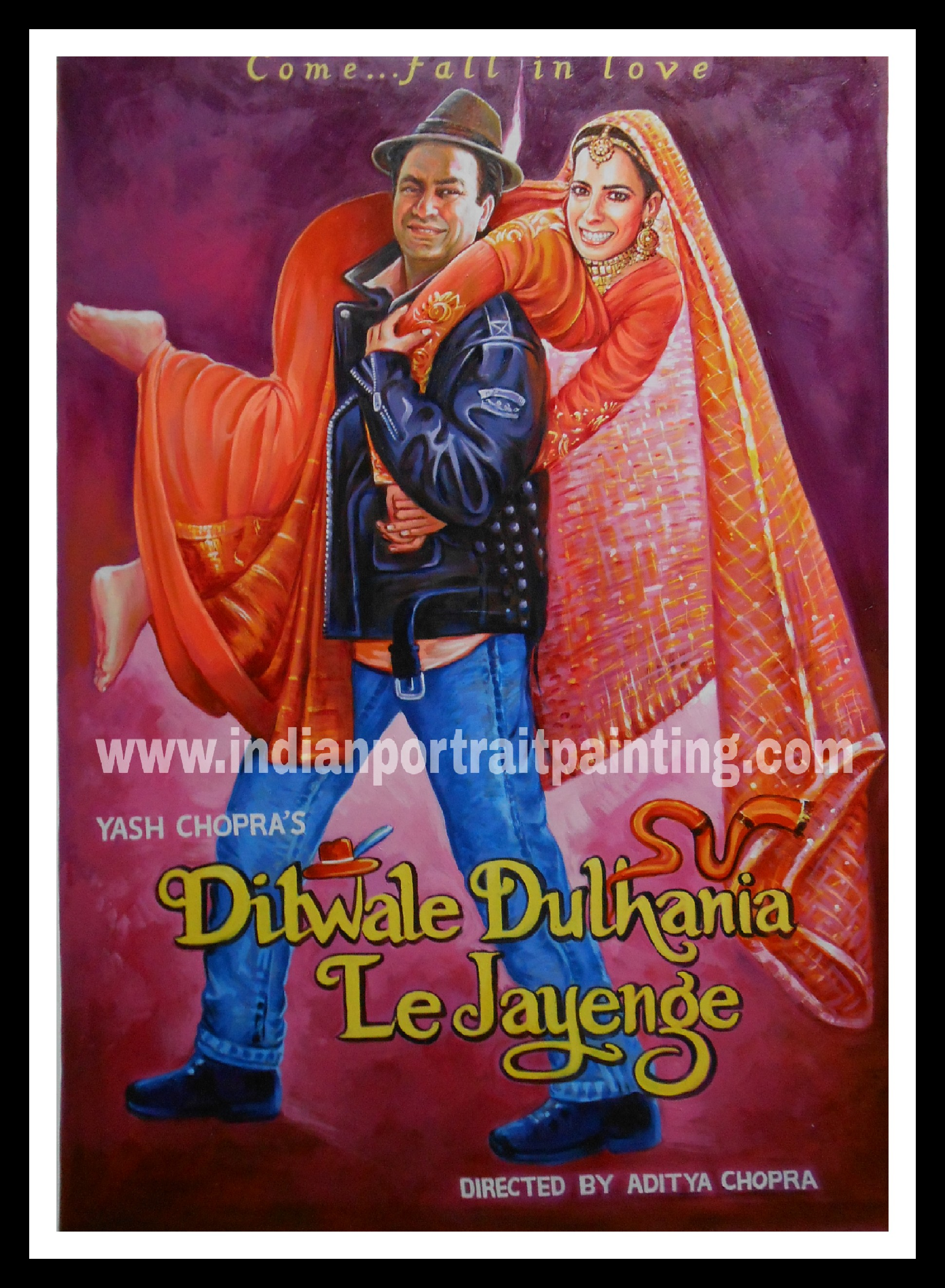 Custom bollywood poster painters