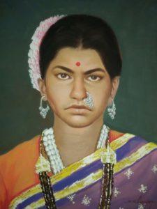 Classic oil portrait paintings mumbai, India