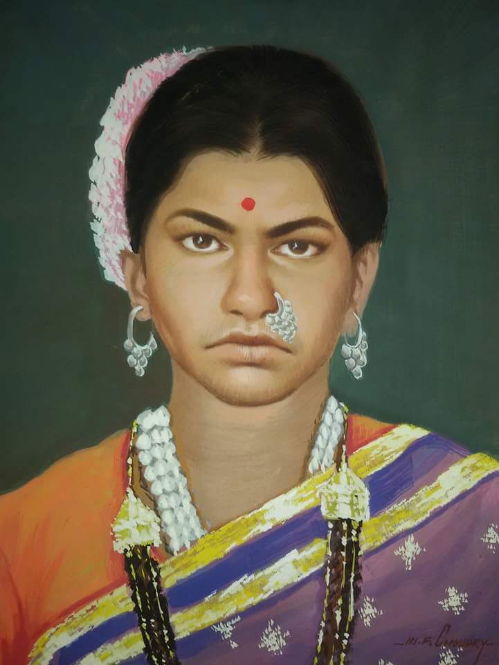 Classic oil portrait paintings mumbai, India
