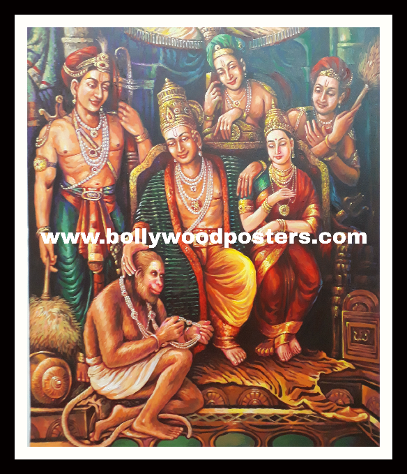 Oil paintings on canvas by indian artists
