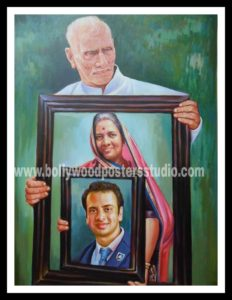Personalized gift canvas portrait painting