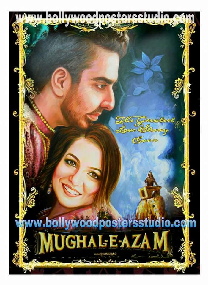 Original Bollywood movie poster on canvas
