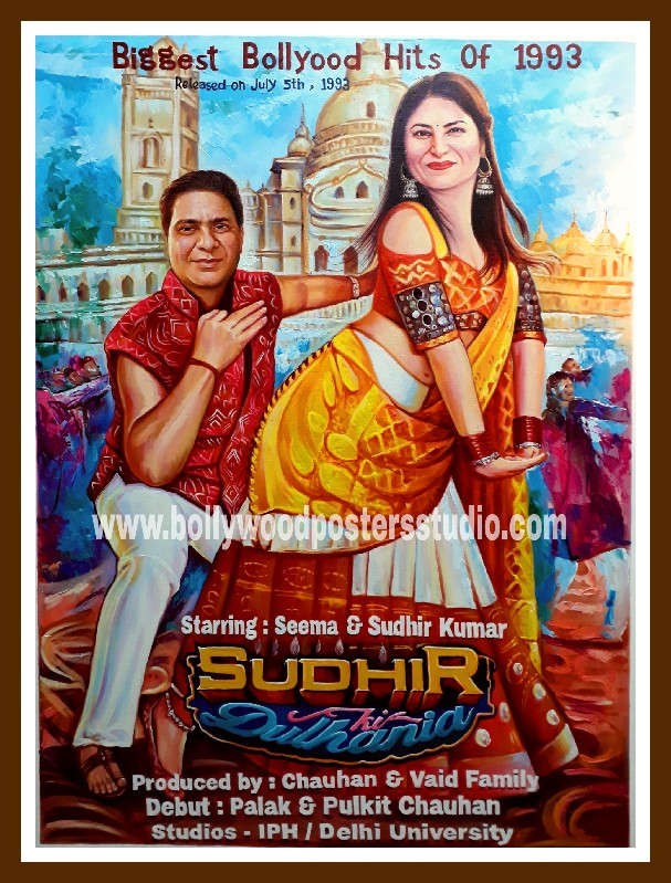 Custom real bollywood poster from photo