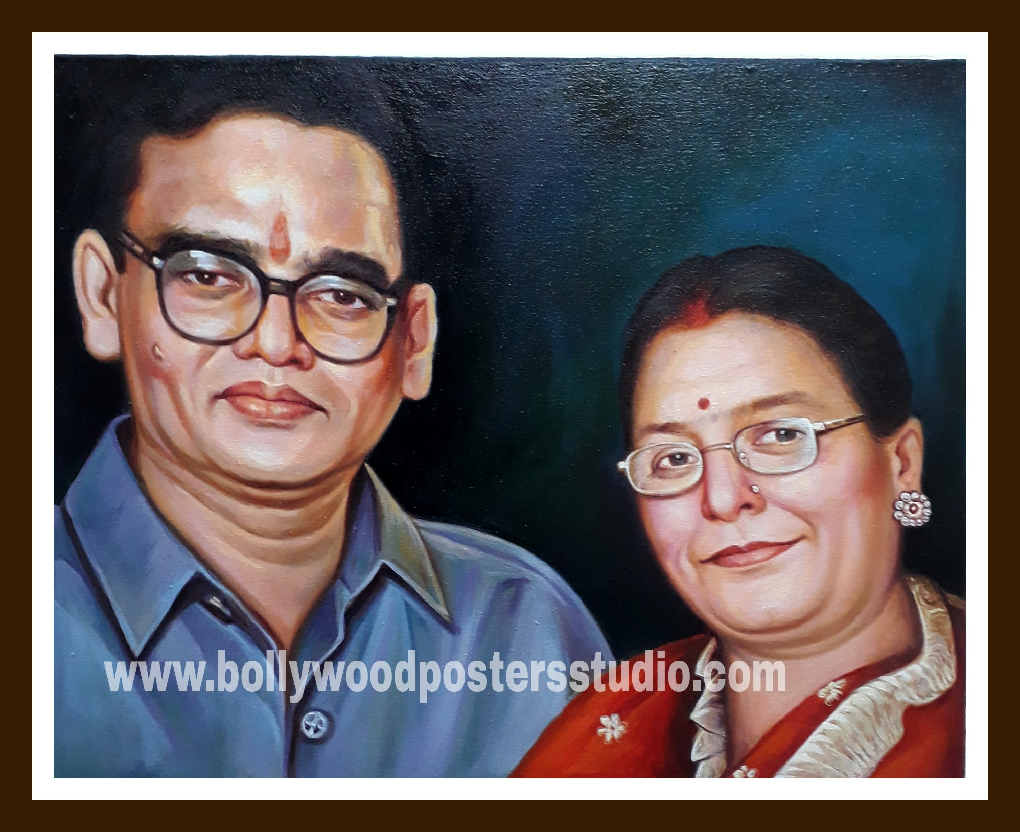 turn picture into portrait on oil canvas