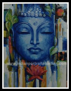 Abstract art Buddha paintings