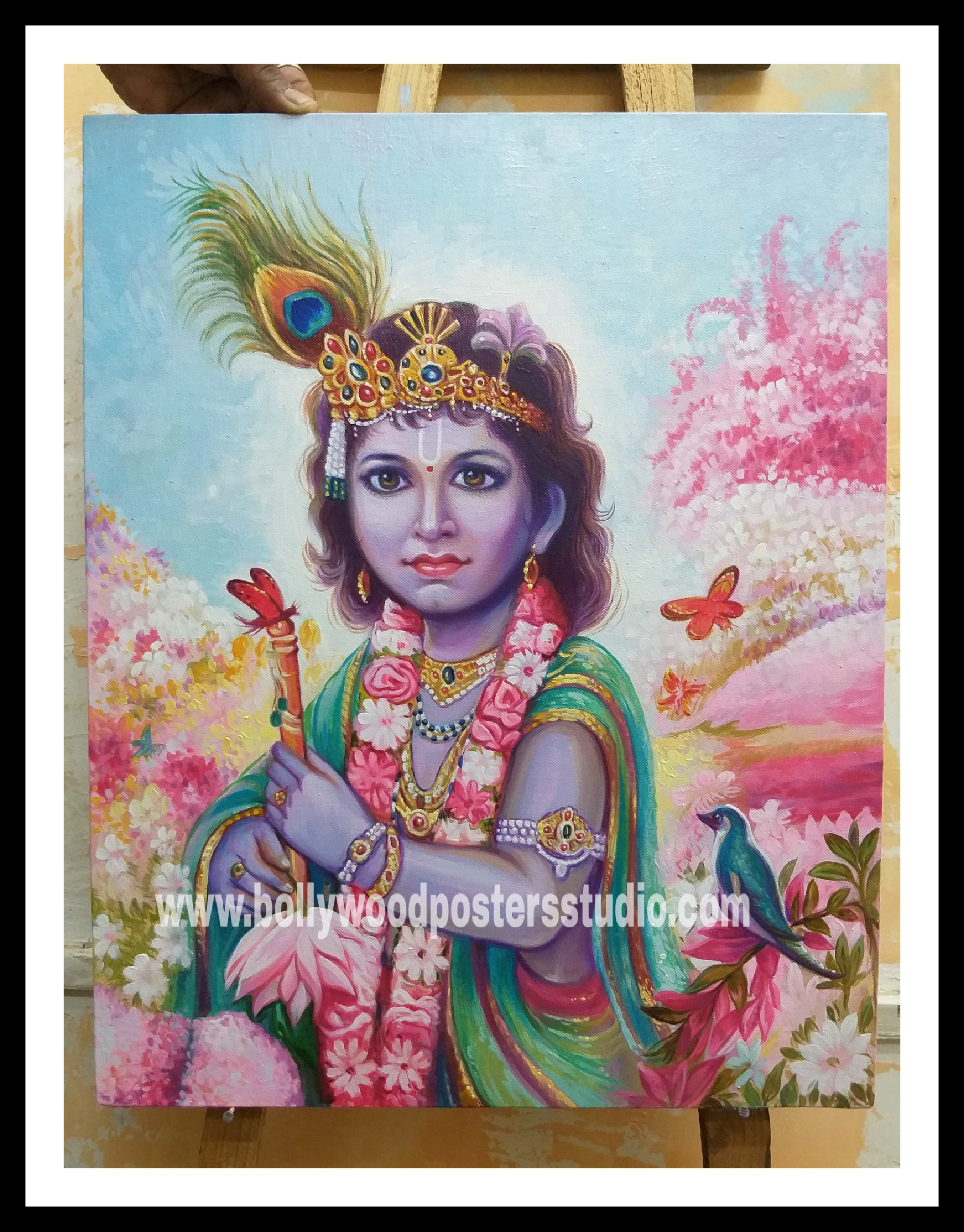 Beautiful oil paintings of bal Krishna