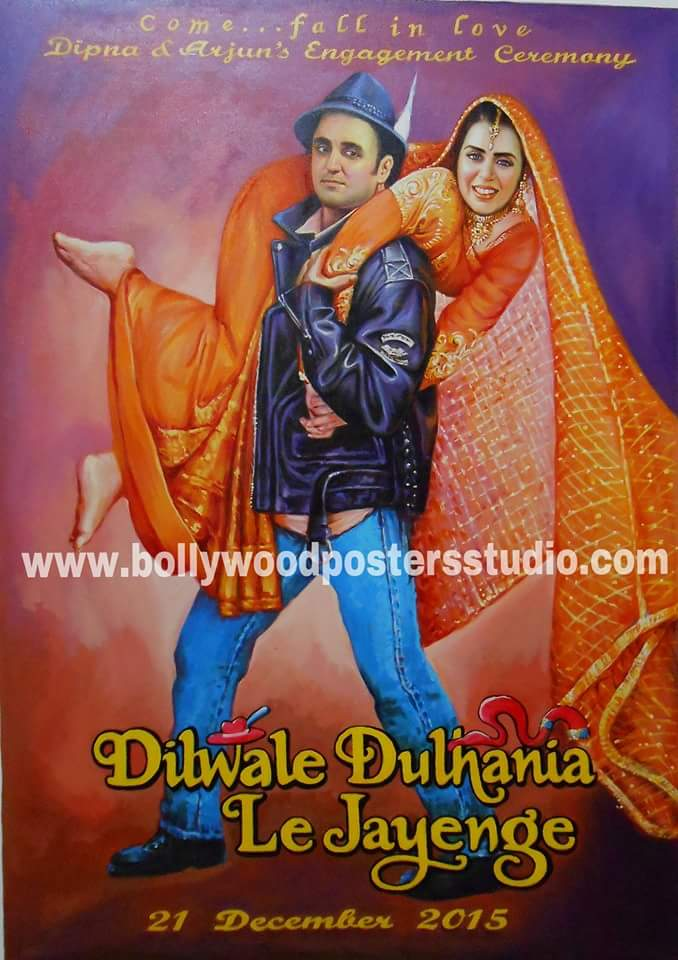 Custom made bollywood poster