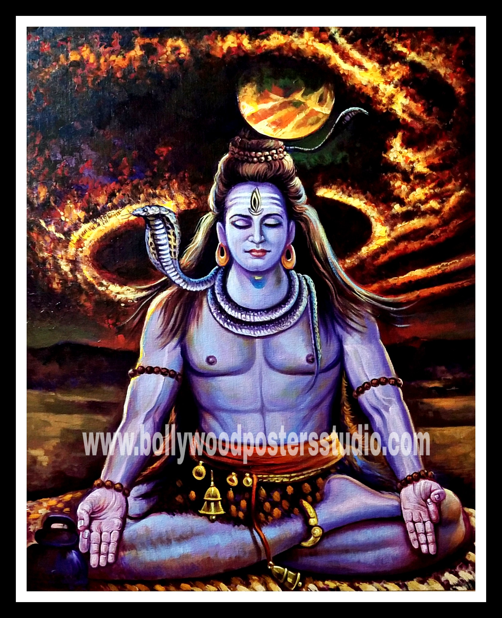 Lord shiva meditation original paintings
