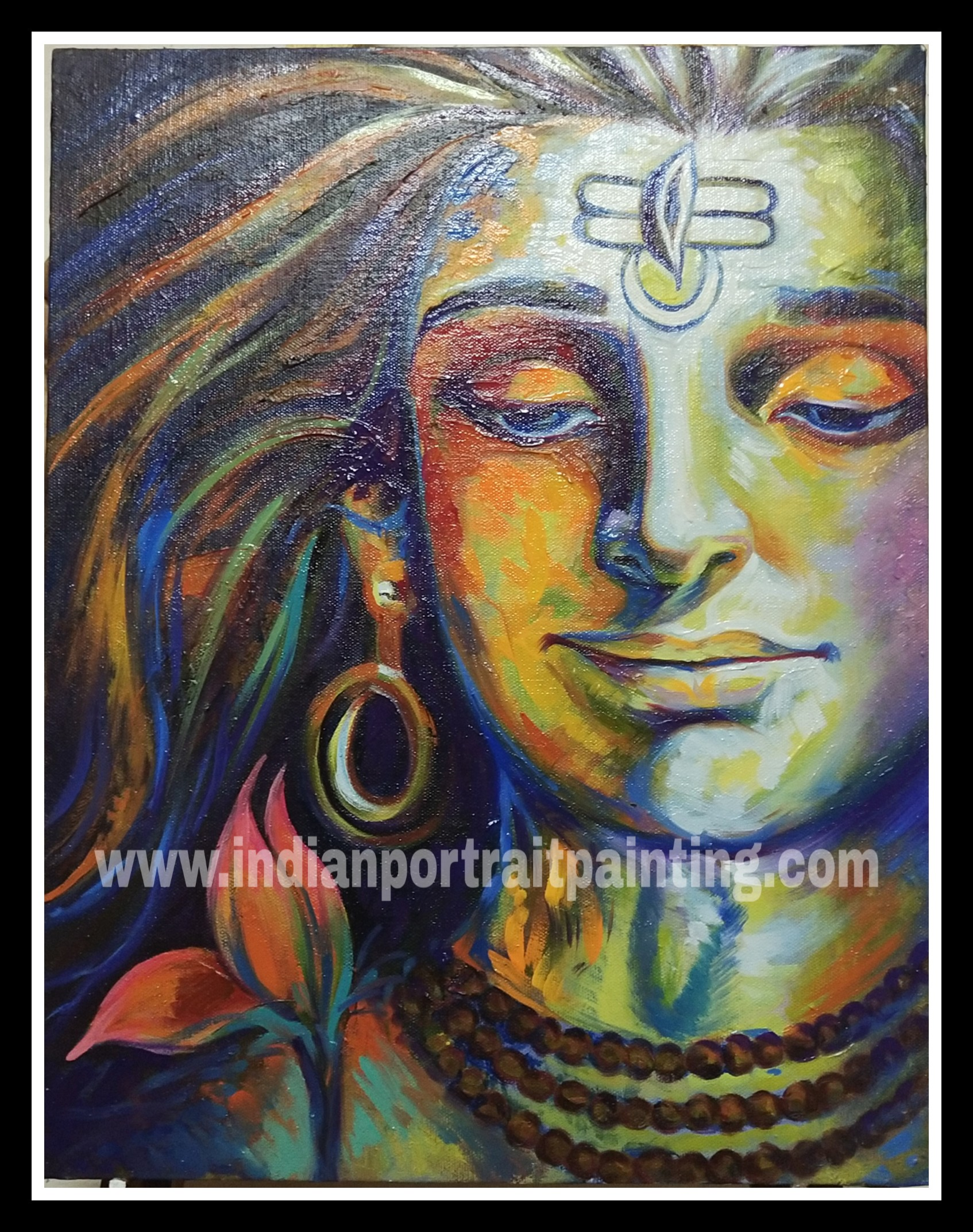 Modern art Lord shiva original paintings