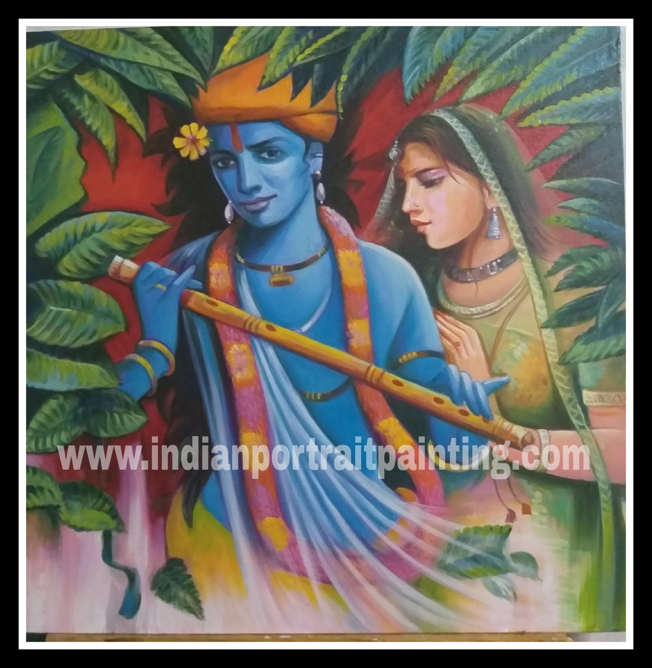 radha krishna paintings gallery