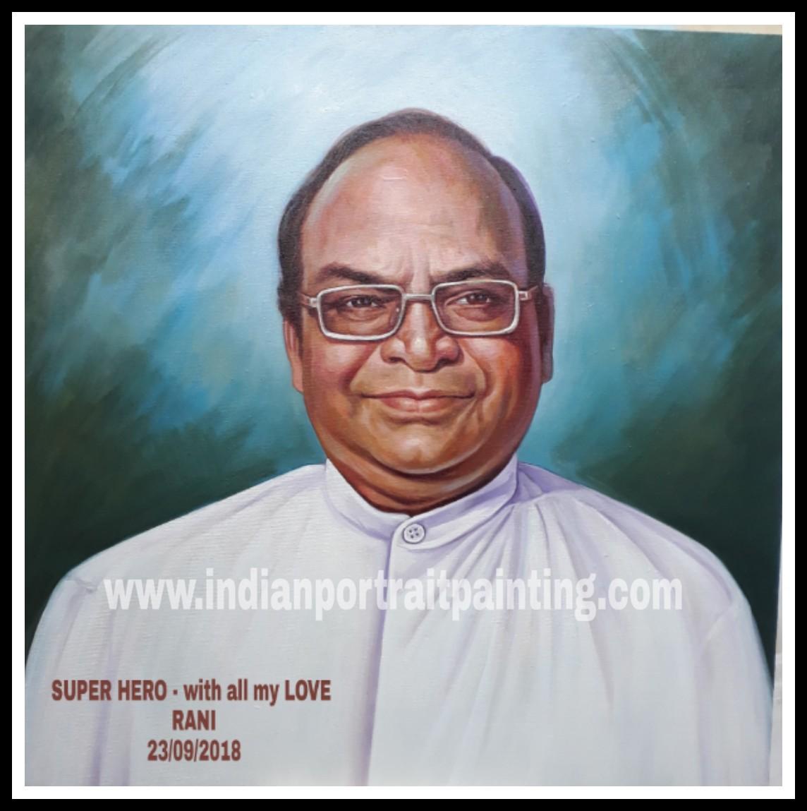 Convert photo to acrylic portrait painting