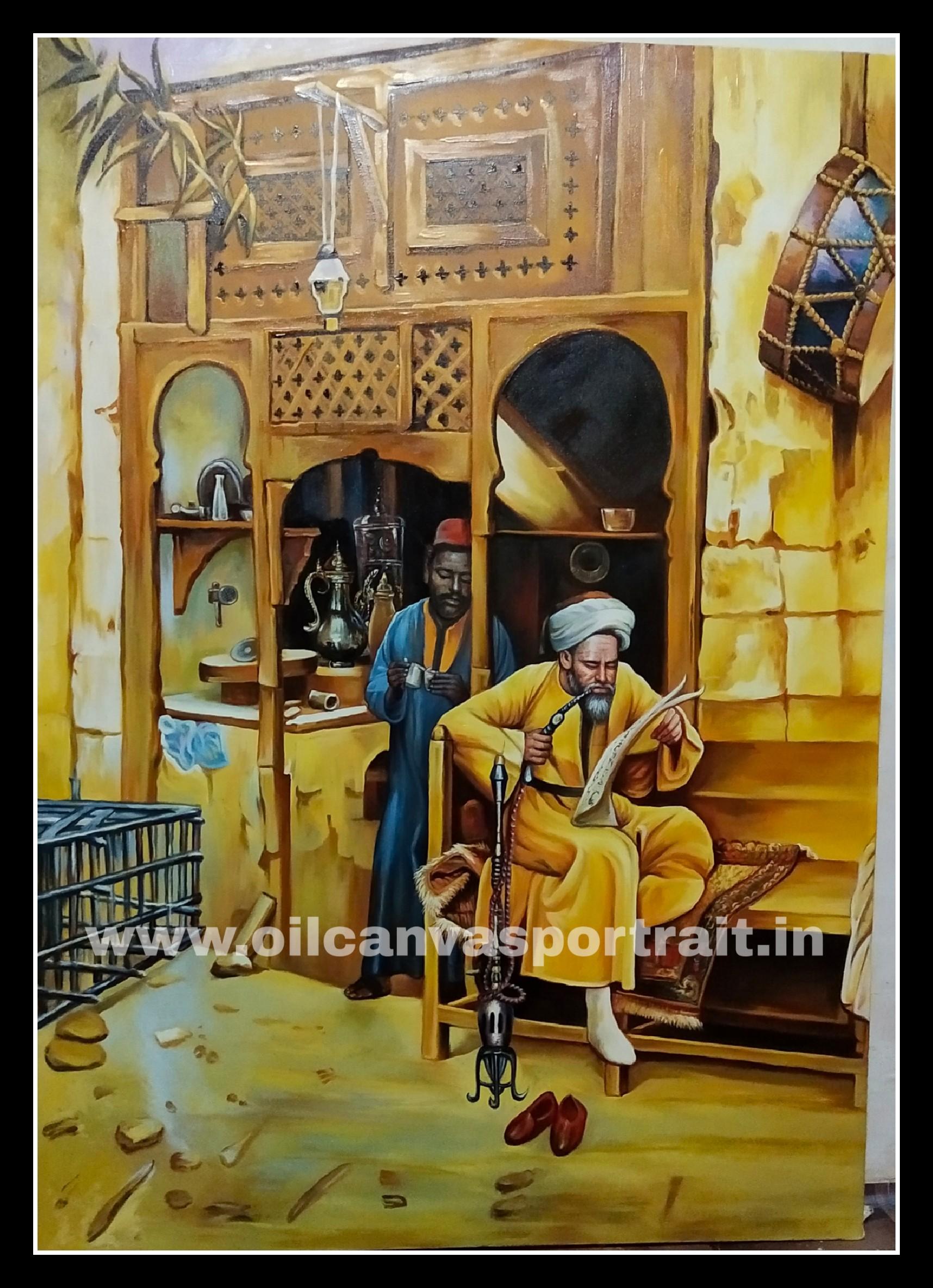 Original oil paintings - arabic art