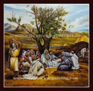 oil paintings on canvas - Old famous arabic painting