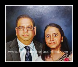 Personal family oil painting gifts