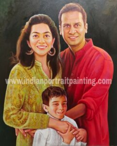 Personalised gifts - family portrait for lifetime