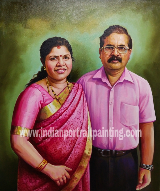 Portrait paintings artists - gift for parents
