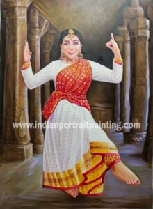 Real indian portrait painting